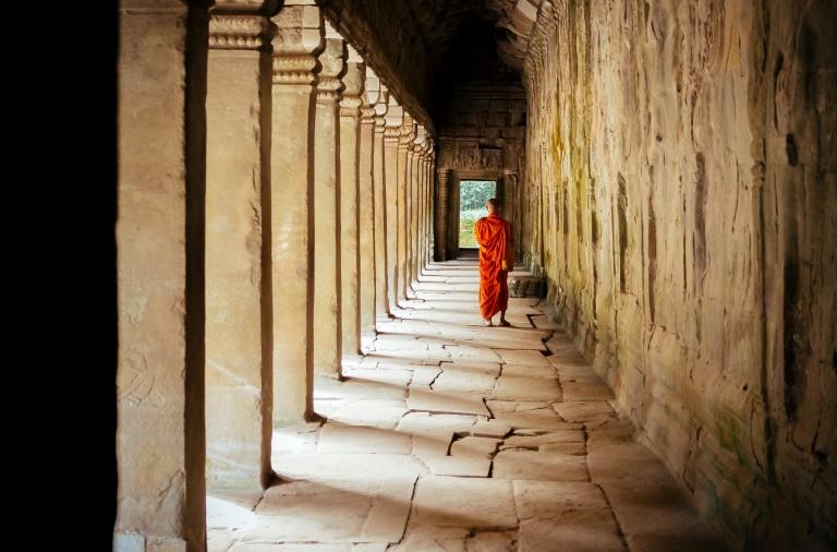 Cambodja, monnik