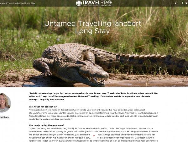 In de media - Untamed Long Stays in Travel Pro 46