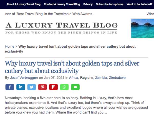 In de media - A luxury travel blog