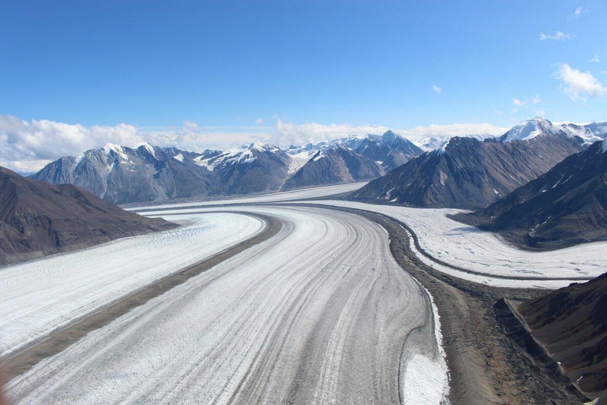 Yukon, Kaskawulsh gletsjer, Kluane NP, Yukon