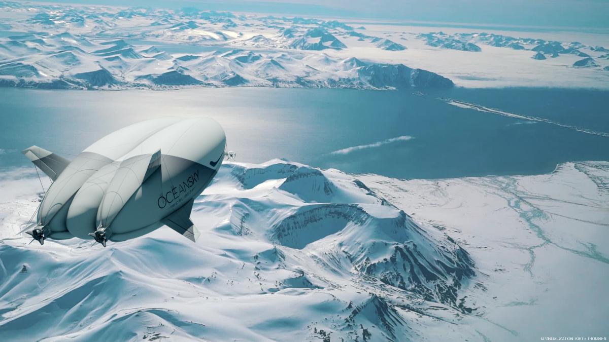 Expiditie Noordpool per luchtschipa